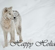Arctic Wolf Holiday Card 8 by WolvesOnly