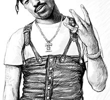 Tupac Shakur drawing poster by kim  wang