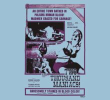 Two Thousand Maniacs (purple print) by Jarrod Knight
