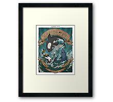 Swimming Anime Framed Print