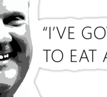 "Mayor Rob Ford- ""I've got enough to eat at home!"" (Black Lettering) Sticker"