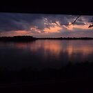 Dusk on the Mississippi by nealbarnett