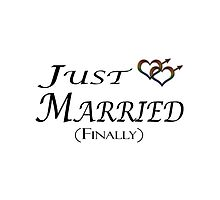 Just married Finally - Gay Pride - Marriage Equality by LiveLoudGraphic