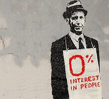 0% Interest in People by BanksyOfficial