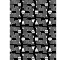 abstract black and white pattern Photographic Print