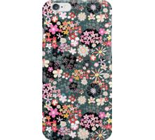 Pattern of multicolored flowers iPhone Case/Skin