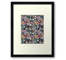 Pattern of multicolored flowers Framed Print