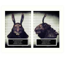 Evil Easter Bunny Rabbit Art Print