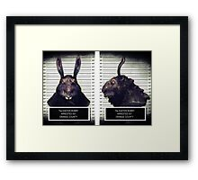 Evil Easter Bunny Rabbit Framed Print