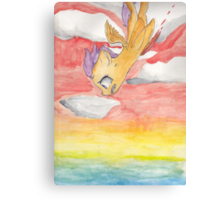 Scootaloo Falling off a Cliff Canvas Print