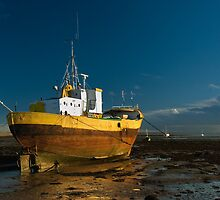 Roa Island Ship in Evening light by StephenRB