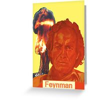 Richard Feynman Greeting Card