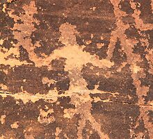 Native American Dancer Petroglyph  by Roupen  Baker