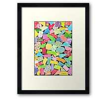 75 PIECES OF PAPER DECORATION Framed Print
