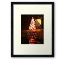 Christmas Impressions - Season's Greetings Framed Print