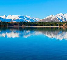 Lake Tekapo Panorama by Adrian Alford Photography