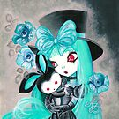 Sweet Gothic Girl With Bunny by TenshiNoYume