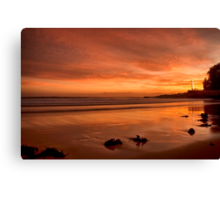 Crimson red sunrise Canvas Print