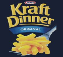 Kraft Dinner Mac 'n' Cheese T-Shirt by Golemware