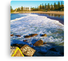 Port Macquarie Lookout over the sea. Canvas Print