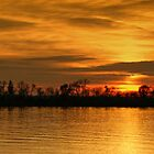 Sunset - Ohio River by Sandy Keeton