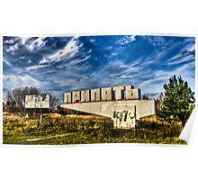 Abandoned Prypiat Entrance Sign Poster