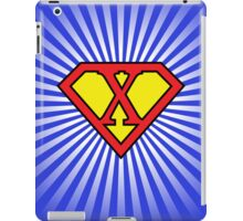 X letter in Superman style iPad Case/Skin