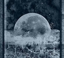 ©DA Moon On Trees IIAB Monochromatic by OmarHernandez