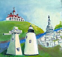 Piney Point Lighthouse in the Potomac River by Phyllis Dixon
