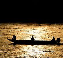 Danube boaters by Thad Zajdowicz