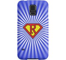 R letter in Superman style Samsung Galaxy Case/Skin