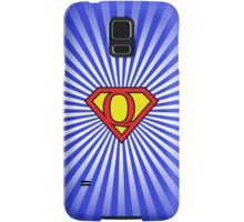 Q letter in Superman style Samsung Galaxy Case/Skin