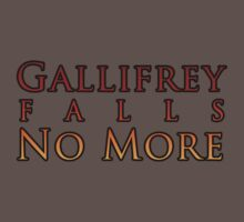 Gallifrey Falls No More Kids Clothes