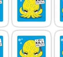 Deathly Cute - 12 Sticker Sheet Sticker