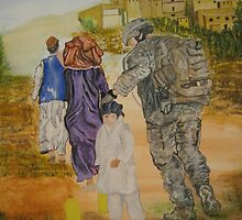 Soldier in Afghanistan by JerryWCarter