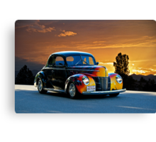 1940 Ford '4D Fun' Deluxe Coupe Canvas Print