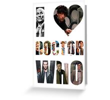 I *Heart* Doctor Who Greeting Card