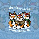 """""""What does the Fox Sing""""  (sticker) by Ameda Nowlin"""