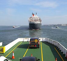 Following Queen Mary 2 Out by Jonathan Cox