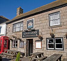 The Kings Arms pub in St Just Cornwall by Keith Larby
