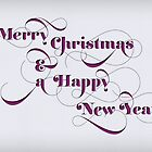 Swash Typographic Merry Christmas by rperrydesign