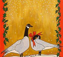 Christmas Geese by Susan Greenwood Lindsay