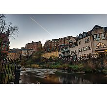 Sunrise Over The Water of Leith at Dean Village, Edinburgh Photographic Print