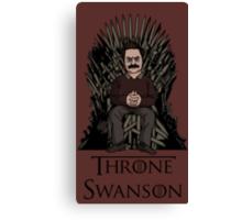 Throne Swanson Canvas Print