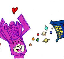 Galactus loves his Galaxy Puffs! by Brandykins1982