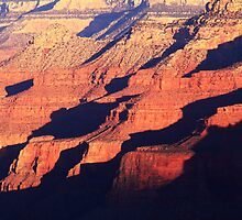 Repeating shapes and shadows, Grand Canyon by Roupen  Baker