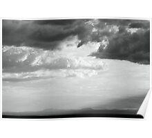 Storm light over the desert  Poster