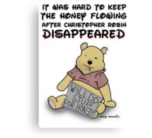 Winnie the Addict Canvas Print