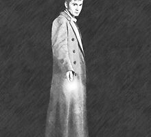 dr who pencil sketch 4 by LokiLaufeysen