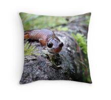 Oregon Ensatina Salamander Throw Pillow